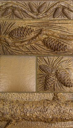 Pinecone tiles by Terry Tiles