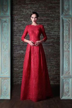 Rami Kadi red dress