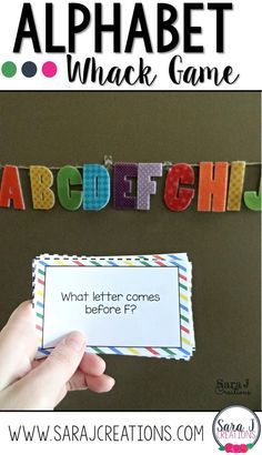 Alphabet Whack - Practicing Letters Game Alphabet whack with free question cards to practice identifying the letters of the alphabet Letter Games, Alphabet Games, Learning The Alphabet, Alphabet Soup, Alphabet Letters, Preschool Literacy, Preschool Letters, Literacy Centers, Literacy Stations