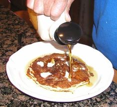 Sourdough pancakes...This has been a family favorite and my dad's specialty.  Great taste with very little effort