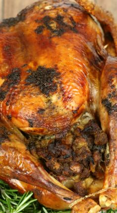 Herb Roasted Turkey ~ It's juicy and flavorful and perfect... There's nothing fancy, just classic flavors with ingredients you can find at your grocery store.