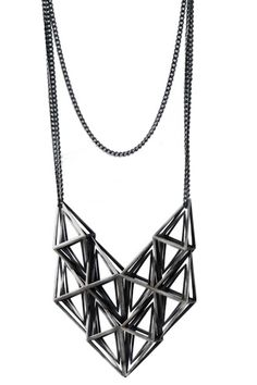 fathom and form diamon and cluster necklace__Circle and Square