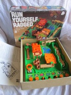 Vintage 1979 Run Yourself Ragged Obstacle Course Game Tomy Japan 1970's Toy | eBay