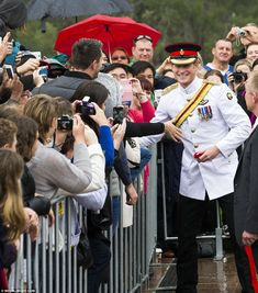 Prince Harry was greeted by an enthusiastic crowd at the Australian War Memorial in Canberra, all keen to catch a glimpse of the royal