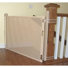 Stair Banister Adapter Kit Installed And In Use At The Top Of Stairs Gatebaby Gate For