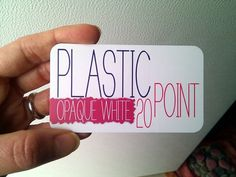 Matt or glossy finish clear plastic business card customized rfid 500 white plastic business cards 2 x 35 16500 via etsy reheart Gallery
