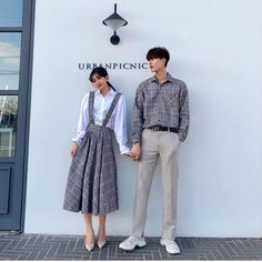 Korean Girl Fashion, Korean Fashion Trends, Korean Street Fashion, Teen Fashion, Matching Couple Outfits, Matching Couples, Cute Couples, Girls Fashion Clothes, Fashion Couple