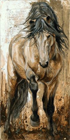 passionate horse painting by Elyse Genest • www.elisegenest.com                                                                                                                                                                                 More