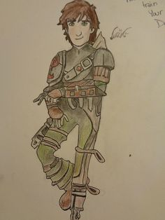 This is a drawing of Hiccup from How to Train Your dragon! I did it! @HannahJackfield
