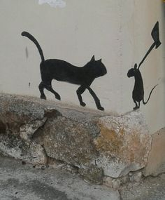 Grafitti m&m Don Juan, Banksy, Four Square, Concept Art, Moose Art, Wall Art, Funny, Animals, Painting