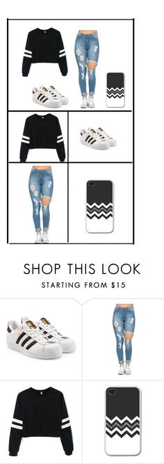 """""""What to wear"""" by gianna-rose-bieber-kane ❤ liked on Polyvore featuring adidas Originals"""