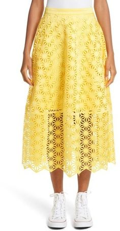 9d82c6a0f Shop for Paskal Laser Cut Skirt with Vinyl Slip at ShopStyle.com ...