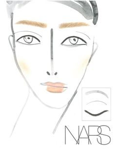 Christopher Kane face chart from the AW13 show    #beauty #mua #makeup #bblogger #beautybloggers