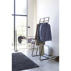 Tower 2-Level Coat Rack in Various Colors – BURKE DECOR Laundry Rack, Clothes Rail, Garment Racks, Maximize Space, Clothing Storage, Burke Decor, Everyday Items, Mudroom, Home Organization