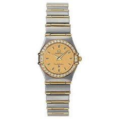 The Omega Women's Constellation Watch is an exquisitely dressed timepiece that flaunts its elegance with red gold bars set between the band's stainless steel links and diamonds set around the 18K red ...