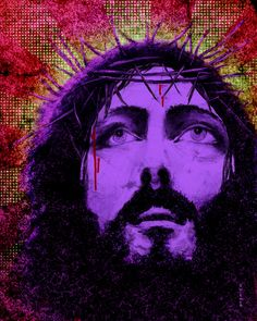 Items similar to 8 x 10 Giclee on Watercolor Paper - Purple Jesus on Etsy Jesus Christ Images, Lord And Savior, King Of Kings, Watercolor Paper, Inspire Me, Bible, Purple, Wall, Inspiration