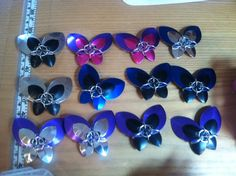 Butterflies! . ring sizes 4 x 16g 5/16 and 2 x 18g 1/4.