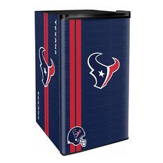 Go old school and show off the history of your favorite football team with this colorful NFL Legacy Counter Height Refrigerator. Features one of the legacy logos of your favorite football team. Perfect for a dorm room, den, garage, basement or bar. Mini Fridge With Freezer, Garage Paint, Houston Texans Football, Compact Refrigerator, Fireplace Accessories, Old School, Texas, Cave Game, Paint Ideas