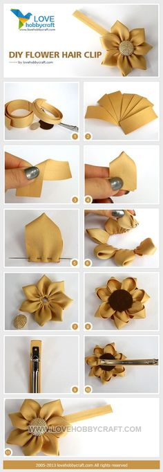 DIY Tutorial craft tutorials / DIY flower hair clip - Bead