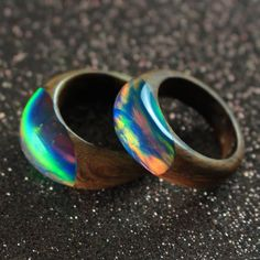 Something new! Combining wood and opal into a unique ring... 😎 Hope you like em! 🙄 www.woodallgood.etsy.com