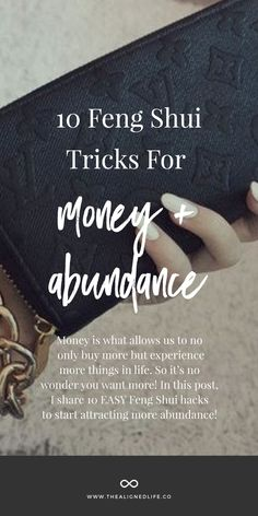Feng Shui Tricks for Money & Abundance Here's how to use Feng Shui to attract more money and abundance into your life!Here's how to use Feng Shui to attract more money and abundance into your life!