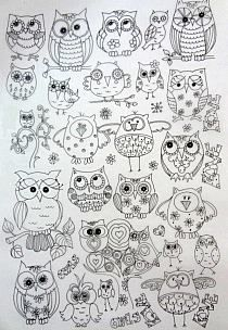 owls to color!