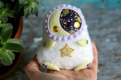 Hey, I found this really awesome Etsy listing at https://www.etsy.com/listing/574615701/ooak-doll-miniature-toy-glow-moon-art