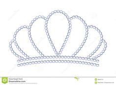 Tiara Da Prata Do Estilo De Symple Com Diamantes Ilustração do Vetor - Imagem: 48845131