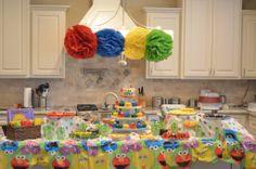 Sesame Street Party Food Set up