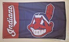 MLB Cleveland Indians Baseball New Flag Banner 3X5 Man Cave Gift FREE SHIPPING #ClevelandIndians
