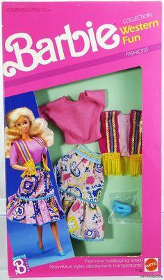 Barbie Western Fun Fashions Foreign #9951 New NRFP 1989 Mattel, Inc. 3+