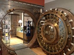 Paper Paintings: Old bank vault