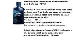 Rede Natura Espaco Resek: Desodorante Colônia Kaiak Pulso Masculino com Cart...