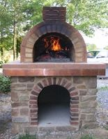 """The Mattone Barile Grande is a Texas sized wood fired oven that is the ultimate in DIY Pizza Ovens! Simply place firebrick in each sized chamber and mortar into place - it's just that easy! Minimal cutting and step-by-step directions. Interior Dimensions - 27""""""""W x 19""""""""H x 41""""""""L Cooking Surface - 1050 square inches Great for familes of 5 or more Excellent for pizza's, breads, BBQ & smoking foods Super-easy to build with step-by-step directions Classic design has been used for over 4000 years…"""