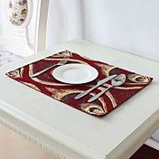 Set of 4 European Style Golden Poly-Silk Red ... – AUD $ 30.32