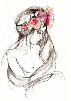 Headband flowers.