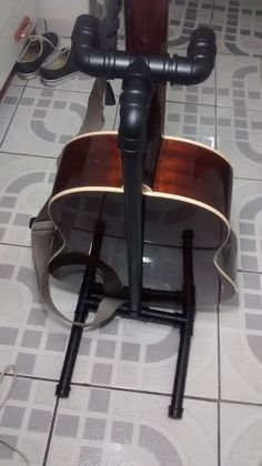 how to make a guitar stand out of pvc