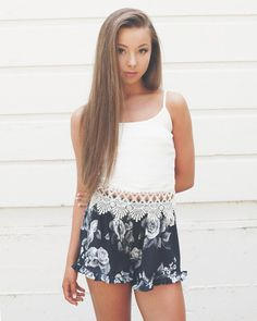 Sophia's Black Floral Shorts