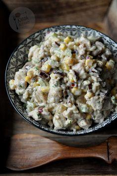 Sałatka z kurczakiem, żurawiną i selerem naciowym Salad Recipes, Snack Recipes, Snacks, Halibut, Potato Salad, Macaroni And Cheese, Salads, Potatoes, Breakfast
