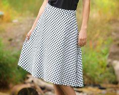 Black and white polka dot skirt-$29.99 #sistermissionaryskirt