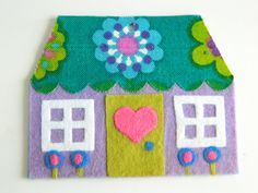 NEW Felt and Vintage Fabric Cottage Hanging by aliceapple on Etsy, £6.00