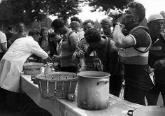 Tour de France 1950 July 14, ended stage 2 Metz - Liège, 241 km. Photo credit: AFP