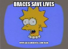 Lisa needs new Braces Dental Blog http://www.baselinedental.com/blog #Dentist #Dental #Dentistry #Simpsons #Blog #Funny #Meme
