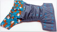 What does the Fox Say? Wrap Around Embellished One Size Pocket Diaper