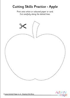 Cutting shapes - apple