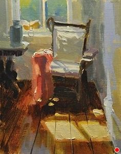 Study of a Chair by Charles Iarrobino Oil ~ 10 inches x 8 inches
