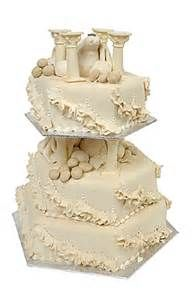 greek wedding cakes ideas three tiered cake designed with a key columns gold 14951