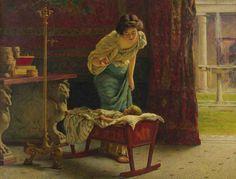 """A mothers joy "" - Guglielmo Zocchi (italian painter)"