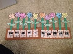 Kroger's Kindergarten: Teen numbers flowers freebie.  So cute!