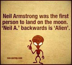 Neil A is Alien backwards.